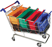 Trolley bags in use